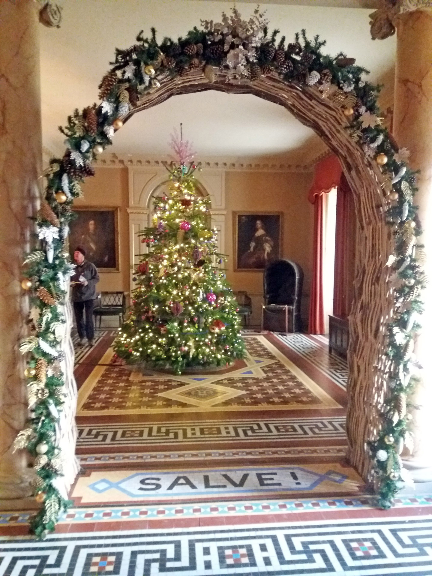 Christmas Wimpole Hall tree