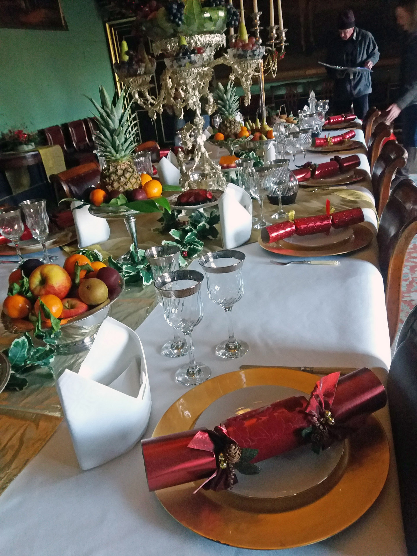 Christmas Wimpole Hall formal table