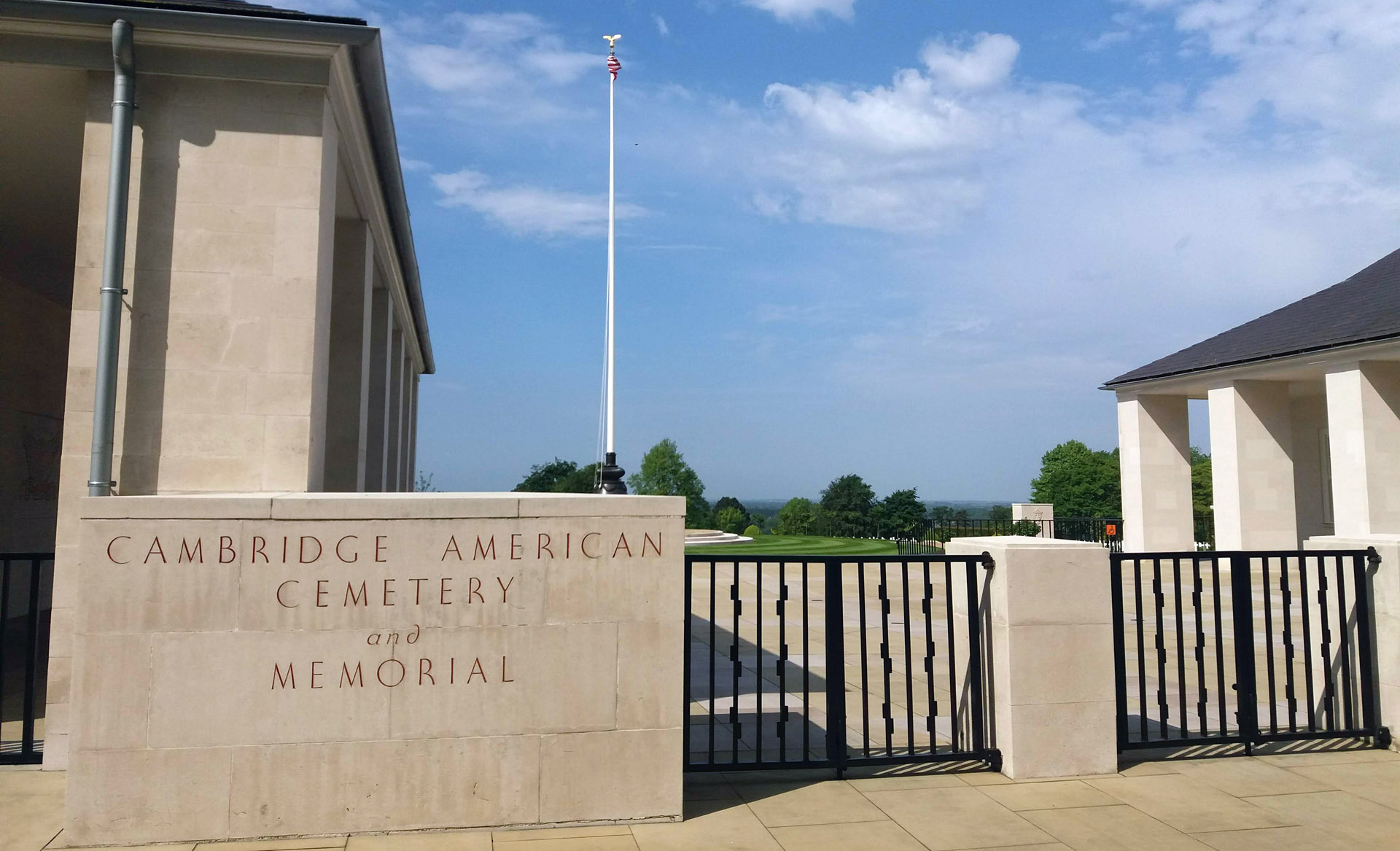 cambridge american cemetary memorial Entrance Madingley