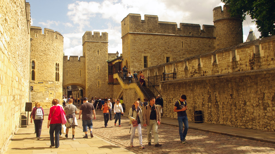 Inside the Entrance of the Tower of London