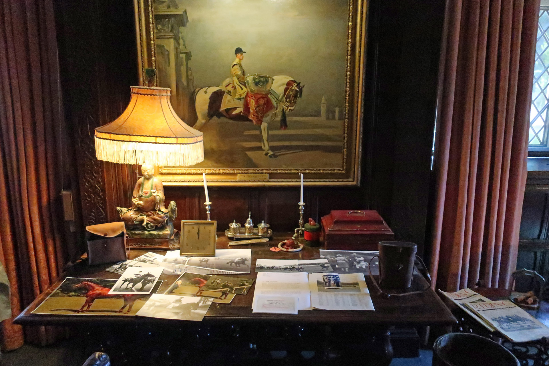 Lord Fairhaven's desk, anglesey abbey, cambridgeshire