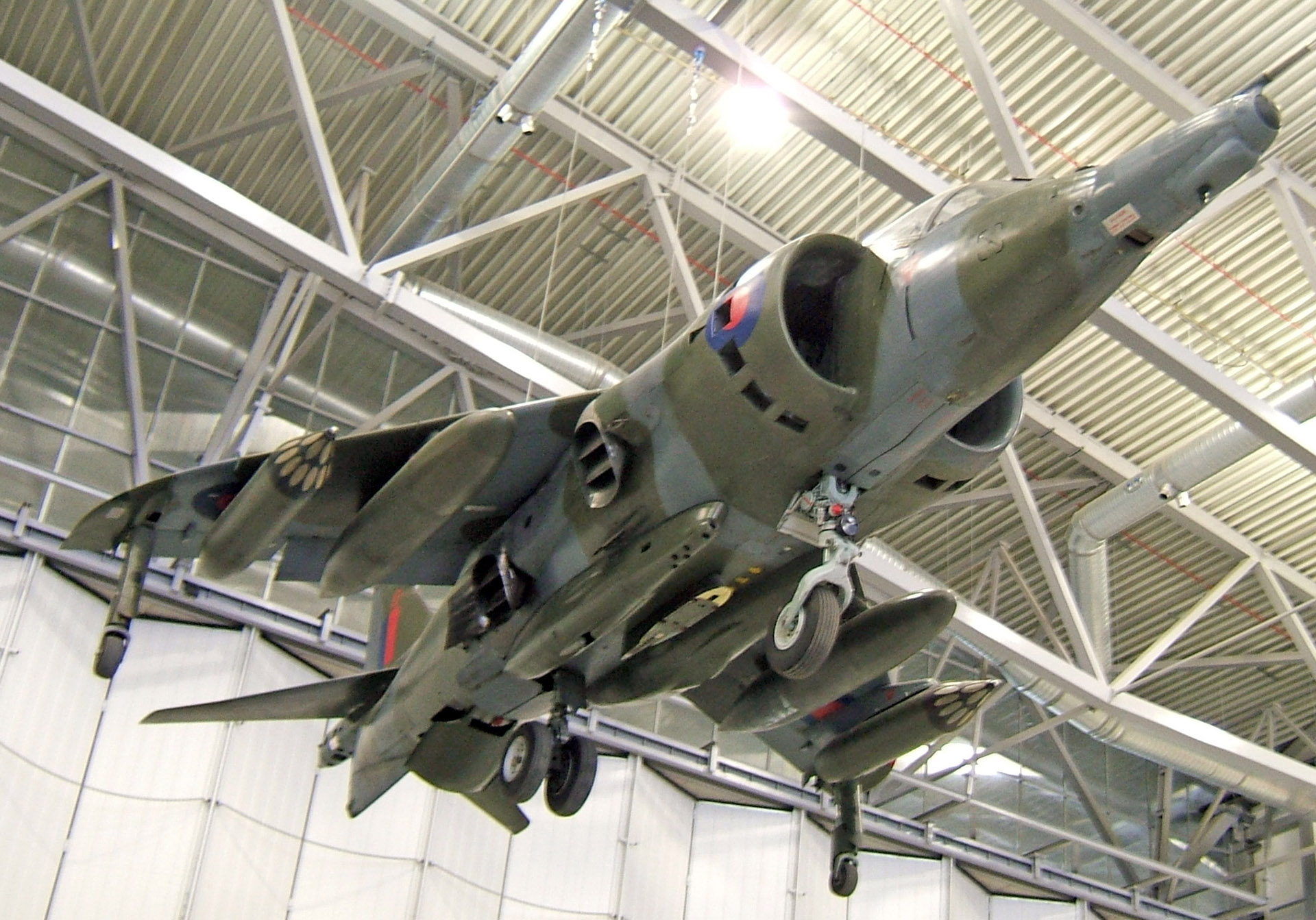 duxford Harrier jump jet suspended ceiling