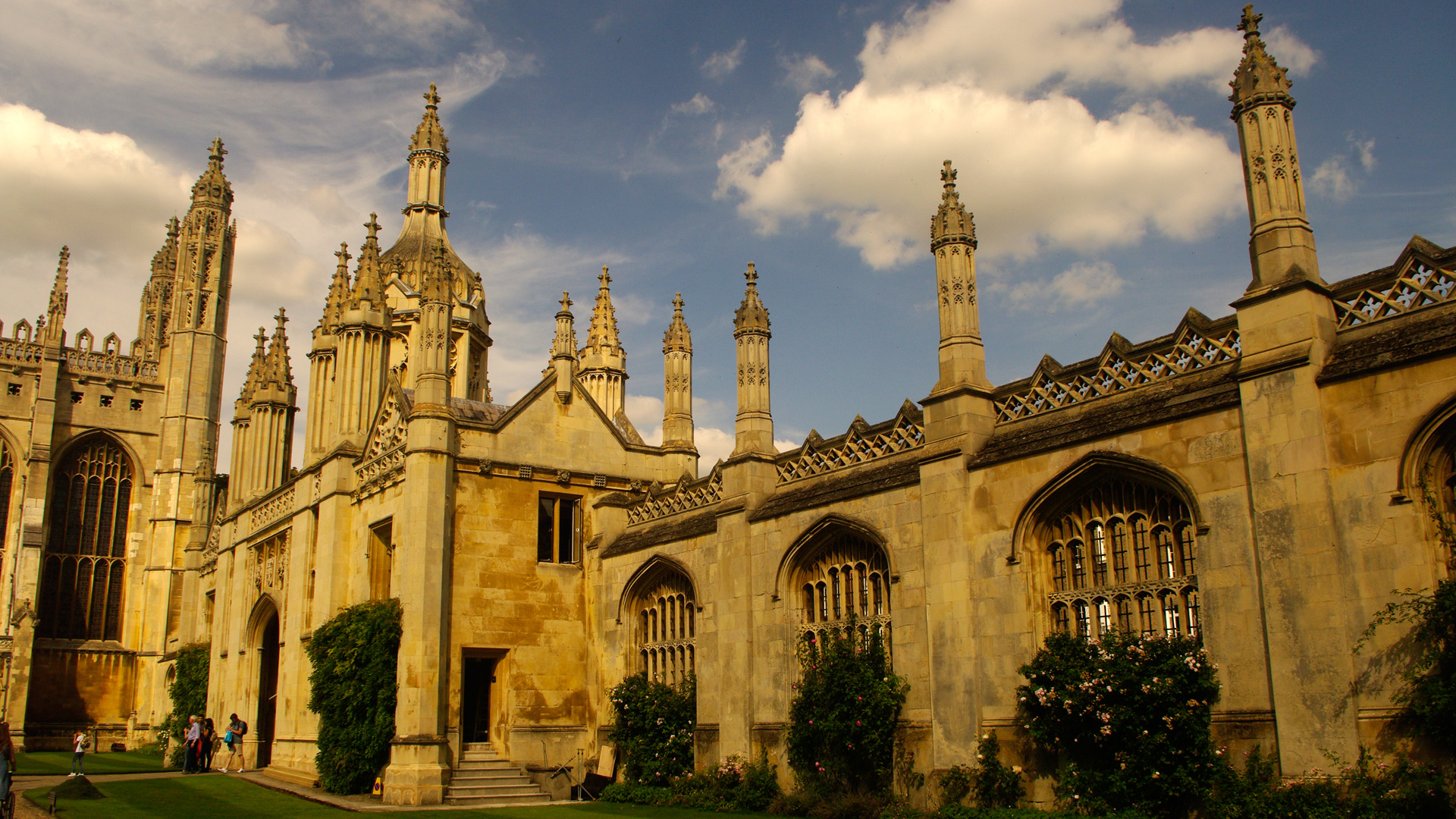 cambridge Kings College gatehouse from Kings College quad
