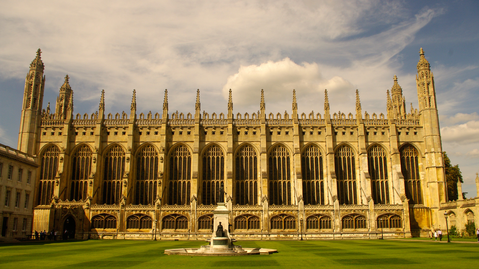 cambridge Kings College Chapel from Kings College quad