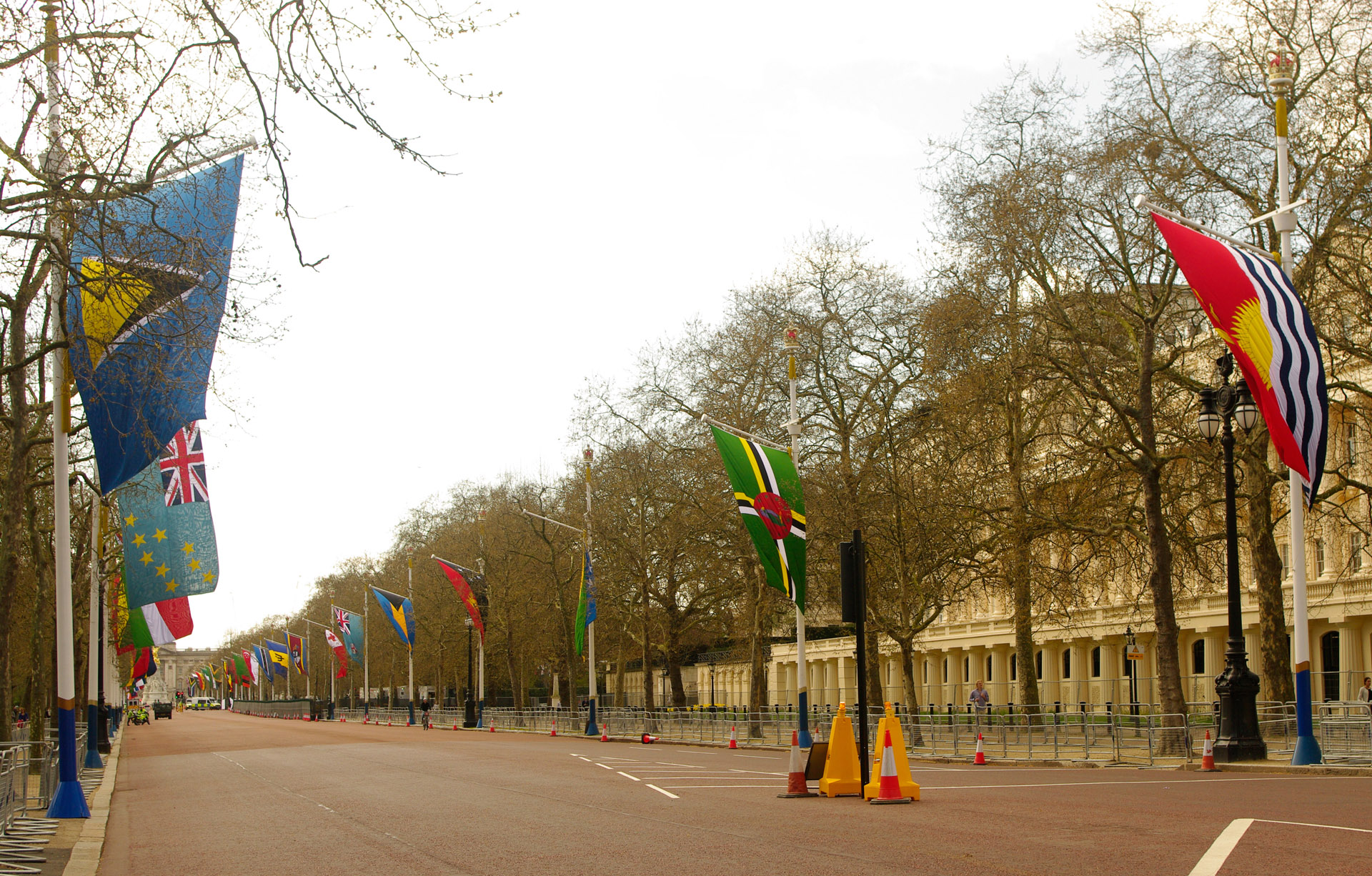 london Mall Buckingham Palace flags Commonwealth nations Heads Government Meeting 19th 20th April 2018