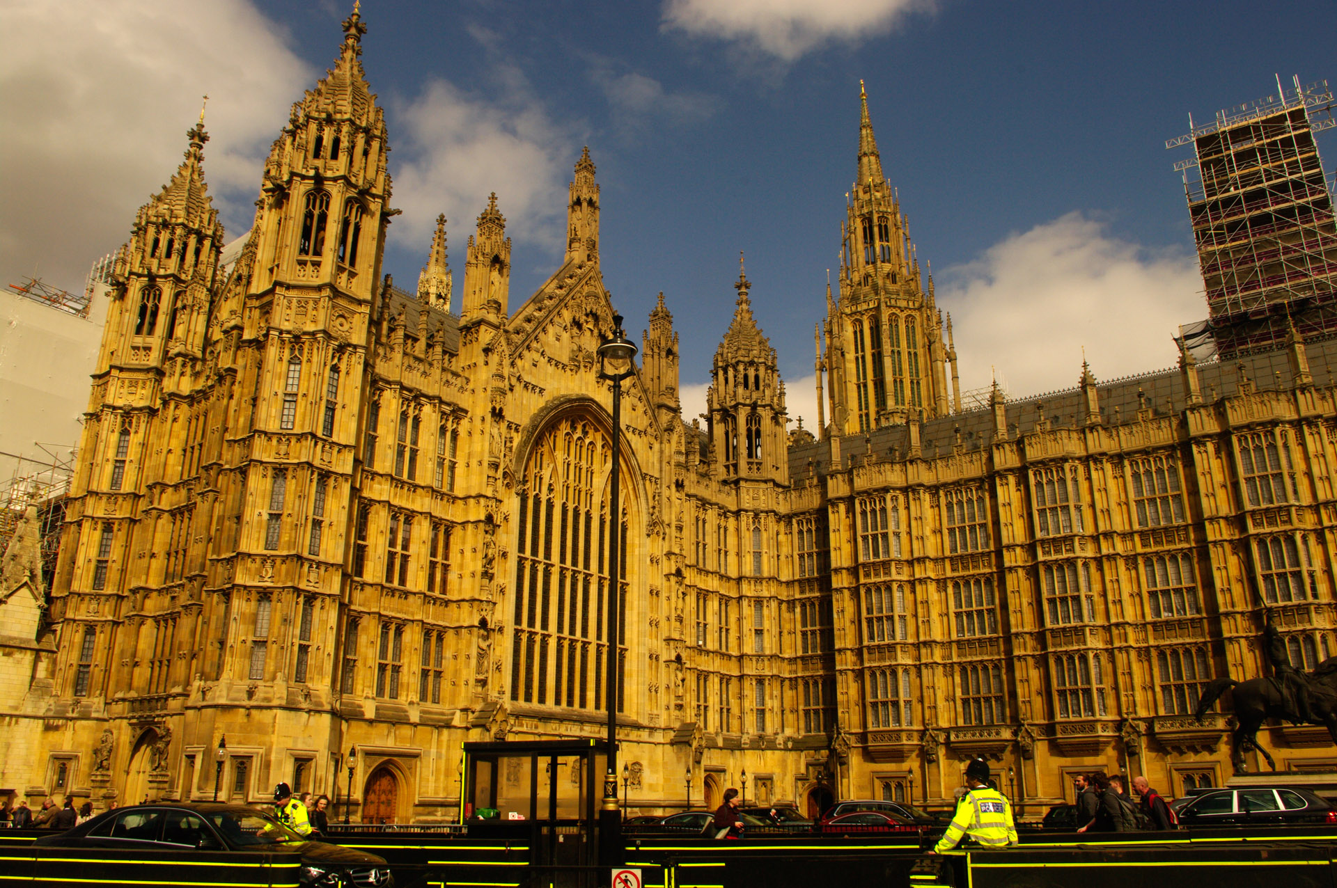 london Palace Westminster Houses Parliament central tower UNESCO World Heritage Site