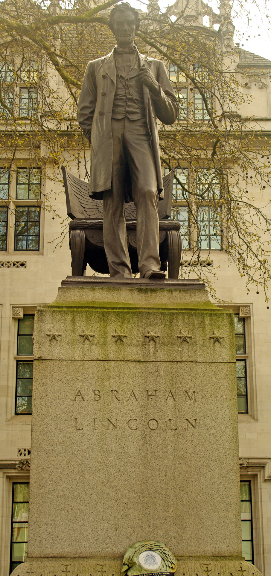 london Statue Abraham Lincoln Parliament Square unveiled 1920